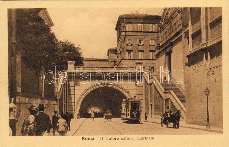 Rome tunnel under the Quirinale, Róma alagút a Quirinale alatt