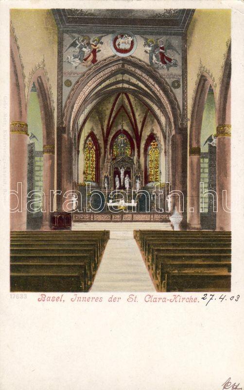 Bázel Szent Klára templombelső, Basel St. Clara church interior
