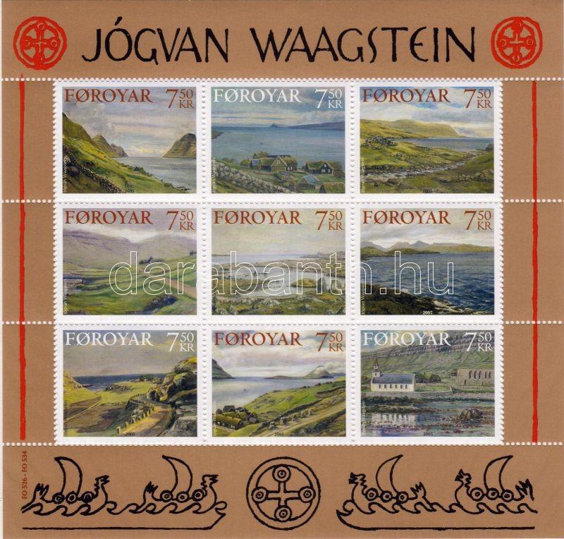 Jógvan Waagstein's paintings minisheet, Jógvan Waagstein festményei kisív, Gemälde von Jógvan Waagstein Kleinbogen