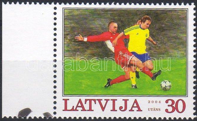 Labdarúgó EB ívszéli bélyeg, Football European Championship margin stamp, Fußball-Europameisterschaft Marke mit Rand