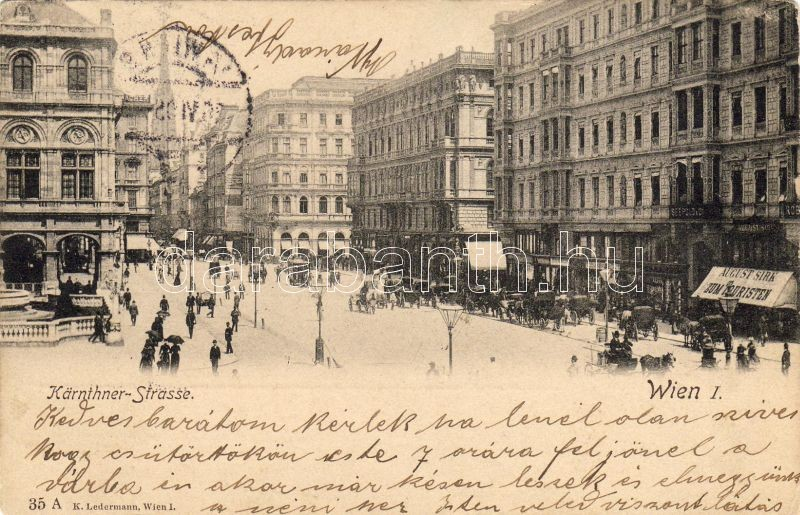 Vienna I. Kärnthner street, Bécs I. Kärnthner utca