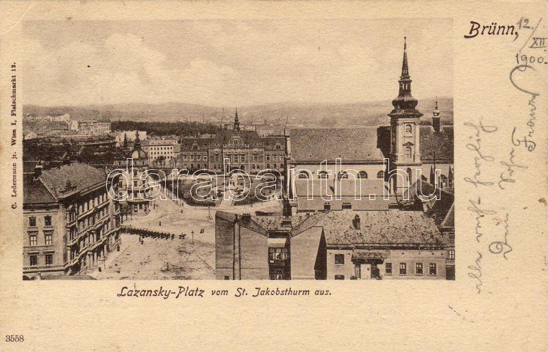 Brno, Lazansky square, Brno, Lazansky tér