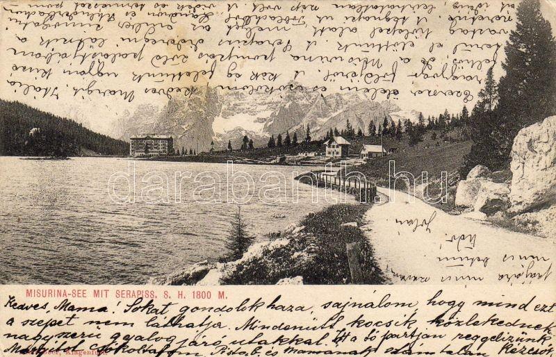 Misurina-tó, Serapiss, Lake Misurina, Serapiss