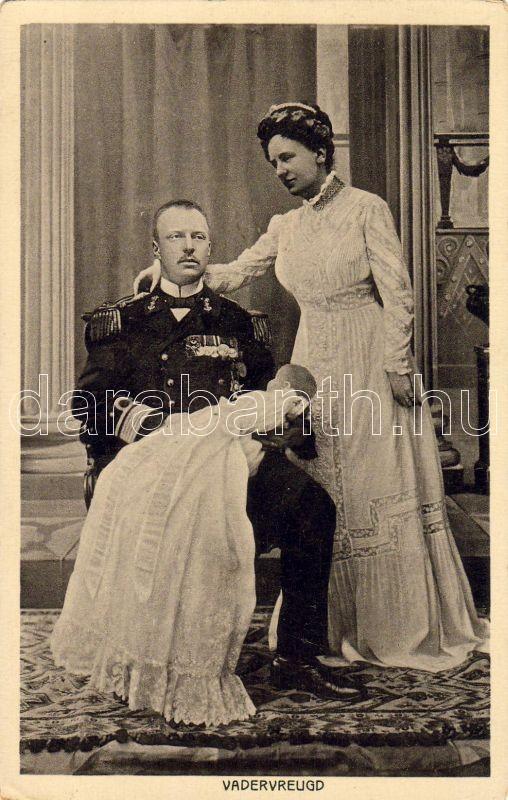 of the Netherlands, Duke Henry of Mecklenburg-Schwerin, baby, I. Vilma holland királynő, Henrik mecklenburgi herceg és gyermekük