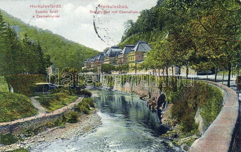 Herkulesfürdő, Szapáry spa, River Cserna, Herkulesfürdő, Szapáry fürdő, Cserna folyó