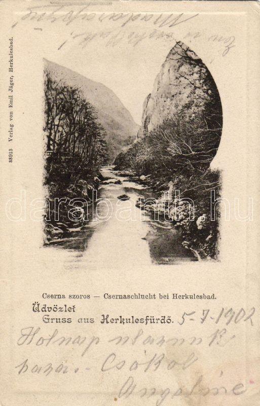 Herkulesfürdő, Cserna valley, Herkulesfürdő, Cserna szoros, Emil Jager kiadása