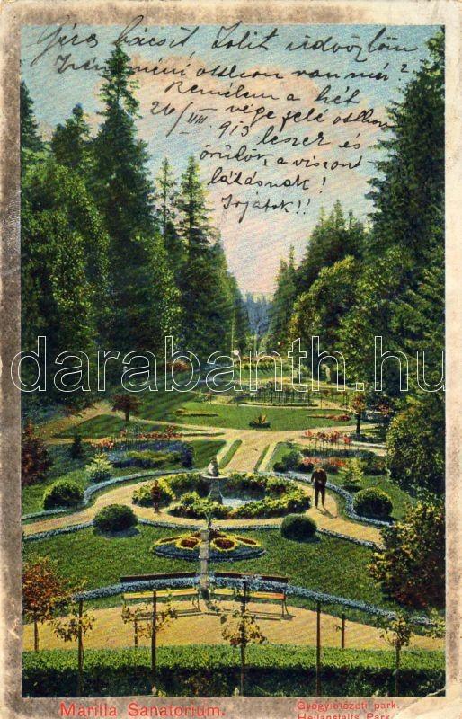 Marilla, sanatorium, park, Marilla, Gyógyintézet, park