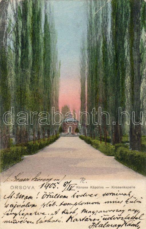 Orsova, Korona chapel, Orsova, Korona Kápolna