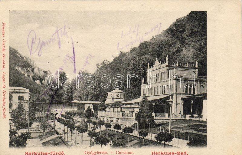 Herkulesfürdő sanatorium, Herkulesfürdő gyógyterem, Fenyves Oszkár kiadása