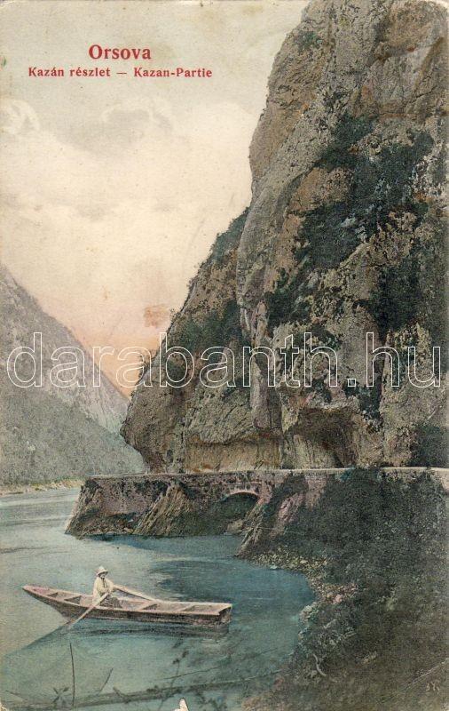 Orsova Kazan, boat, Orsova Kazán szoros, csónak