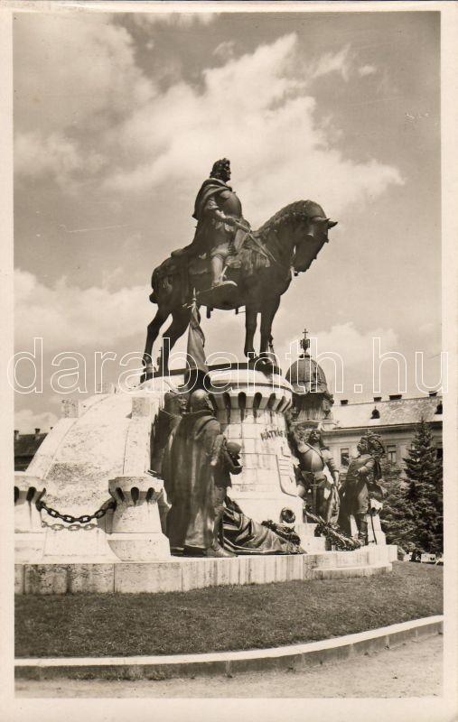 Cluj Matthias Corvinus statue, Kolozsvár Mátyás király szobor