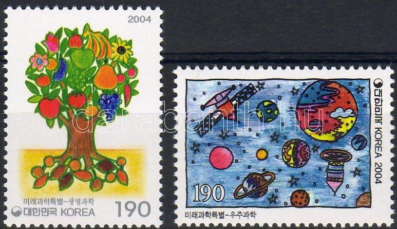 Children's drawings: bio-science, discovery of the space set, Gyermekrajzok: biotudományok, űrkutatás sor, Kinderzeichnungen: Biowissenschaften, Astronomie Satz