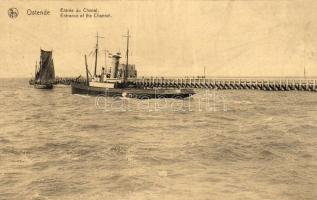 Ostend, Entrance of the Channel, steam ship