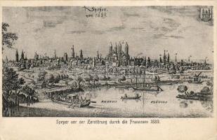 Speyer anno 1689, before the French destruction