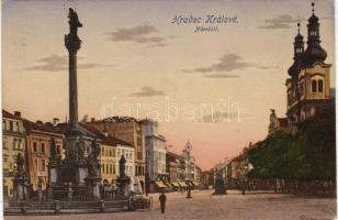 Hradec Králové, shops, monument