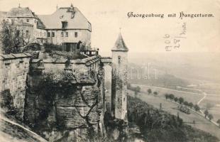 Festung Königstein, Georgenburg, Hungerturm / fortress, castle, tower