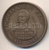 "1989. ""Martyrs of Arad - Ernő Poeltenberg"" commemorative medallion. Sign: György Bognár (1944-), Bognár György (1944-) 1989. ""MÉE Gyöngyösi Csoport - Aradi Vértanúk / Poeltenberg Ernő"" emlékérem, 1989. ""Märtyrer von Arad - Ernő Poeltenberg"" Gedenkmünze. Sign.: György Bognár (1944-)"