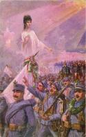'I'm proud of my Hungarians' celebrating soldiers, Military Support Relief, 'Büszke vagyok magyarjaimra' ünneplő katonák, Hadsegélyező