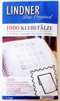 Pre-folded Stamp Hinges - 1 package of 1000, Lindner bélyegragasztó 7040, 1000db, Lindner Klebefälze - 1 Tüte (1000 Fälze)