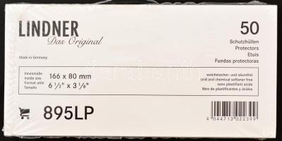 Protective Covers/Sleeves for postcards/postal history/banknotes US-Dollar(895LP), acid and chemical softener free Hard-PVC film, 166x80mm, clear, Lindner víztiszta bankjegytok/képeslaptok/levéltok (895LP), 166x80mm, 50db/cs., Schutzhüllen für Postkarten/Briefe/Banknoten (895LP), 166x80mm, glasklar