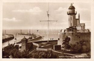 Kolobrzeg, Kolberg; Ostseebad, Hafeneinfahrt