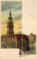 Hannover, Aegidienkirche / church, litho