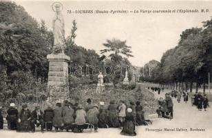 Lourdes, crowned virgin statue