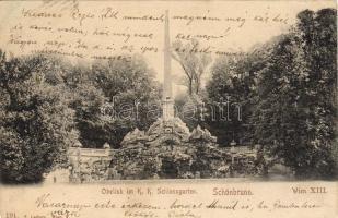 Vienna, Wien XIII. Schönbrunn, Obelisk in the castle park