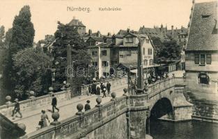 Nürnberg, Karlsbrücke / bridge, Johan Huber's shop
