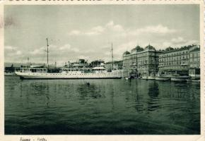 Fiume, port, steamship, Fiume, kikötő, gőzhajó