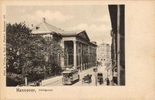 Hannover, Schlossportal / castle entry, tram