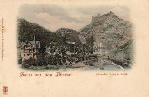 Altenahr, Althar, Burg, Villa / valley, castle, villa, bridge
