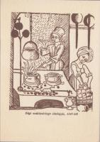 The title-page of an old cookbook from 1507 Régi szakácskönyv címlapja 1507-ből