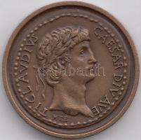 "Sándor Kiss (1925-1999) 1982. ""Association of the Hungarian Medal Collectors - Caesar Claudius"" commemorative medallion, Kiss Sándor (1925-1999) 1988. ""MÉE Caesar Claudius"" emlékérem, Sándor Kiss (1925-1999) 1982. ""Verein der Ungarischen Münzensammler - Caesar Claudius"" Gedenkmünze"