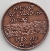 """Györgyi Lantos (1953-) 13-14.08.1988. """"Association of the Hungarian Medal Collectors XVIIIth  Itinerary Congress / István Türr"""" commemorative medallion, Lantos Györgyi (1953-) 1988.08.13-14. """"MÉE-MNT XVIII. Vándorgyűlés / Türr István"""" emlékérem, Györgyi Lantos (1953-) 13-14.08.1988. """"Verein der Ungarischen Münzensammler - XVIII. Wanderversammlung / István Türr"""" Gedenkmünze"""