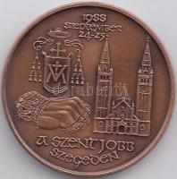 "24-25.09.1988. ""Association of the Hungarian Medal Collectors - The Holy Right Hand in Szeged"" commemorative coin sign.: Mihály Fritz (1947- ), Fritz Mihály (1947- )1988.09.24-25. ""MÉE - Szent Jobb Szegeden"" emlékérem, 24-25.09.1988. ""Verein der Ungarischen Münzensammler - Die Heilige Rechte in Szeged"" Gedenkmünze sign.: Mihály Fritz (1947- )"