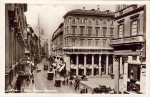 Milano, Corso Vittoro Emanuele, car, tram, perfumery