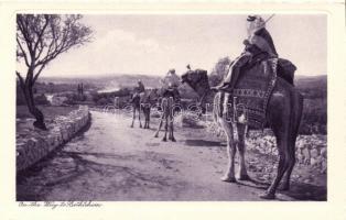 Úton Betlehembe, folklór (nem képeslap) On the way to Betlehem, folklore (nin pc)