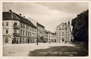Ljubjana, Kongresni trg. z nunsko cerkvijo, Lekarna / square, church, pharmacy