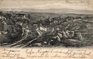Veszprém, részlet a völgyi kútról