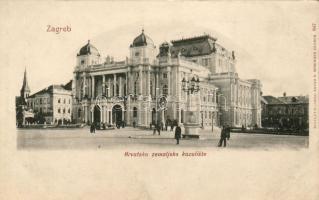 Zagreb, Hrvatsko zemaljsko kazaliste / theatre