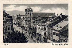 Kosice, main street, Kassa, Fő utca felső része
