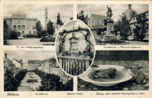Miskolc, Erdőigazgatóság, Erzsébet tér, Kossuth szobor, Rákóczi kilátó, béka