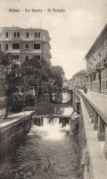 Milan, Via Senato, Navigli / canals, Milánó, Via Senato, Navigli / csatorna
