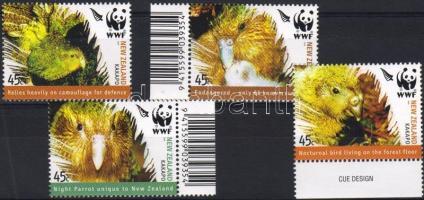 WWF birds margin and corner set, WWF madarak ívszéli és ívsarki sor, Weltweiter Naturschutz, Vögel Satz mit Rand