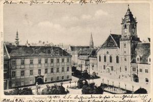 Bratislava, main square, town hall, Pozsony, Fő tér, Városháza