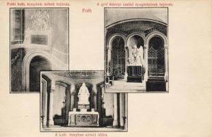 Fót, Katolikus templom sírbolt bejárata és oltára, Gróf Károlyi család nyughelyének bejárata, belső; kiadja Kropacsek János