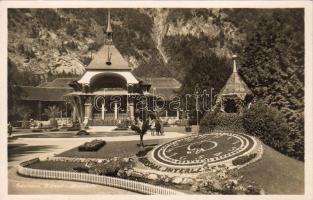 Interlaken, Kursaal, Blumenuhr / spa, flower clock
