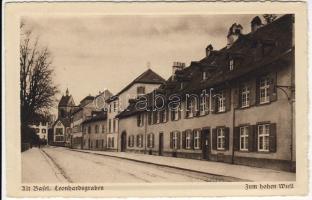 Basel, Altstadt, Leonhardsgraben, Zum hohen Wiell / street
