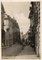 Basel, Freiestrasse, Augen Glaser / street, optician, automobiles